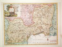 Carta geografica del Governo della Linguadoca.