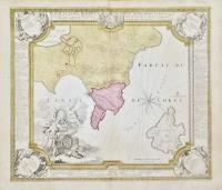 Plan de la place de Corfù avec ses Environs, Assiegee par les infideles…