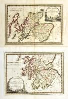 La parte settentrionale della Scozia delineata sulle ultime osservazioni e divisa nelle sue contee...(Insieme a:) La parte meridionale della Scozia...