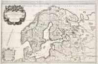 La Scandinavie et les environs ou sont les royaumes de Suede, de Danemarck et de Norvege...