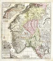 Regnum Norwegia accurata et novissima delineatione juxta W. Prefecturas Generales Aggerhusiensem, Bergensem, Nidrosiens. Wardhusiens et Bahus.