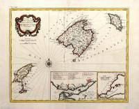 Carte des isles de Majorque, Minorque et Yvice.