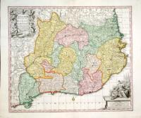 Cataloniae Principatus et Ruscinonis ac Cerretaniae Comitatuum exactissima delineatio.