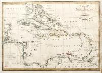 Charte von West Indien nacht Edwards de la Rochette...