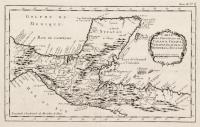 Carte des provinces de Tabasco, Chiapa, Verapaz, Guatimala, Honduras et Yucatan
