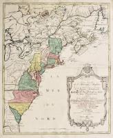 Carte nouvelle de l'Amerique angloise contenant tout ce que les Anglois possedent sur le continent de l'Amérique septentrionale...