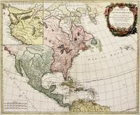 Amérique septentrionale dressée sur les relations plus moderne des voyageurs et navigateurs…