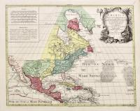 America septentrionalis concinnata iuxta observationes...per G. De L'Isle...recentissimas