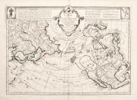 Carte des nouvelles decouvertes au nord de la Mer du Sud tant à l'est de la Siberie et du Kamchatka....