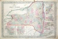 County map of  the State of New York.