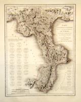 Carte géographique et numismatique de …Basilicate ou l'ancienne Lucanie, avec la Calabre…
