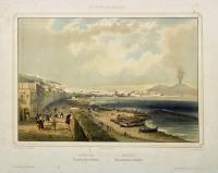 Naples, vue générale prise de Mergellina