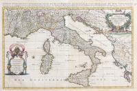 L'Italie divisee suivant l'estendue de touts les etats, royaumes, republiques, duches, principautes.