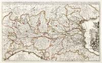 Lombardia inter Carolum austriacum Philippumq andegavensem disputata capto Gallor. Generali Villeroy (entro cartiglio). Sedes belli in Italia… (in alto nel margine).