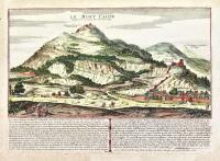 Le mont Cassin dessiné sue les lieux par Mr. De la Salle.