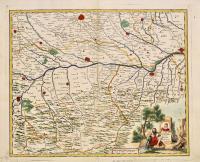 Carta geografica dei territori di Pavia di Lodi e di Piacenza