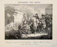 Einnahme von Pavia. Bonaparte richtet durch den Erzbischof von Mayland Worte des Friedens an die Einwohner von Pavia.