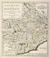 Le piemont et le Monferrat avecque les passages de France en Italie par les Alpes.