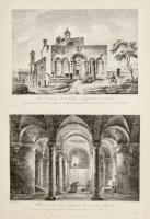 Vue Extérieure d'une Eglise de Capucina à Siponte...... (Insieme a:) Vue intérieure d'une Chapelle Sonterreine à Siponto