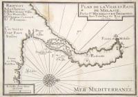 Plan de la ville et rade de Melasse.
