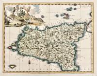 Carta geografica dell'Isola di Sicilia.