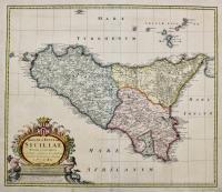 Regni & insulae Siciliae tabula geographica