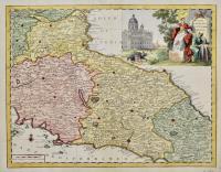 Carta geografica del Stato della Chiesa
