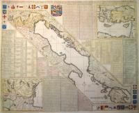 Carte de geographie des differents etats de la Republique de Venise, l'abregè de son gouvernement politique et ecclesiastique et les etats ou elle a porté la glorie de ses armes.