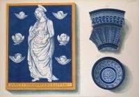 Imitazione di stile Robbiano e ornamentazione di stile orientale sopra fondo celeste e turchino.
