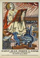 Saint Jean Porte latine patron des imprimeurs.