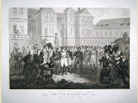 Adieux de Fontainebleau-20 avril 1814.