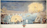 Veue générale des décorations, illuminations et feux d'artifice, de la feste donnée par la ville de Paris.
