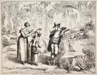 Carrettiere di vino, e la sua famiglia-Costumi romani