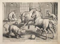 Sic Leo, taurus, Equus facilesq. In bella molossi horrida sanguineo committut proelia morsii…