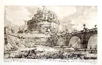Veduta del ponte e del mausoleo, fabbricati da Elio Adriano Imp.re...