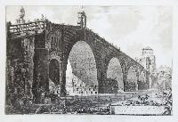 Veduta del Ponte Molle sul Tevere due miglia lontano da Roma.