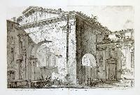 Veduta dell'Atrio del Portico di Ottavia