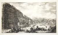 Veduta degli Avanzi del Castro Pretorio nella Villa Adriana a Tivoli