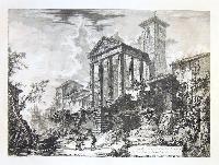Veduta del tempio di Ercole nella città di Cora, dieci miglia lontano da Velletri