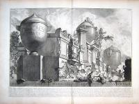 Urne, cippi, e vasi cenerarj di marmo nella villa Corsini fuori di Porta S. Pancrazio.