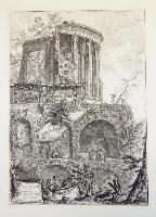 Altra veduta del tempio della Sibilla in Tivoli.