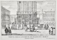 Veduta della Loggetta in piazza di S. Marco. Architettura Sansovino