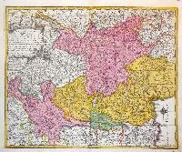 Tabula Geographica in quam integri Ducatus Mediolanensis et Mantuanus…