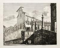 Veduta di fianco del Campidoglio di Roma.