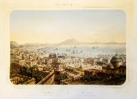 Naples vue prise au-dessus de St. Francois de Paule/Napoles vista tomada cerca de Sn. Francisco de Paula.