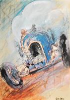 Automobile da corsa blu