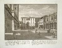 Piazza dei Signori in Verona (ripetuto in francese).