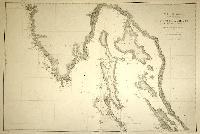 Mer Adriatique, côte orientale, du Port Quieto a l'Ile Asinello (Golfe de Quarnero).