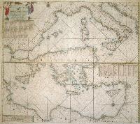 Pas-caart van de Middellandsche zee.