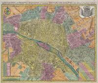 Le plan de Paris, ses faubourgs et ses environs…Grund-Riss der Stadt Paris